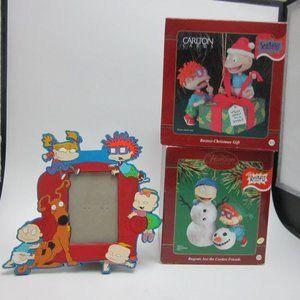 Rugrats Christmas ornaments, frame